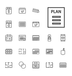 22 plan icons vector