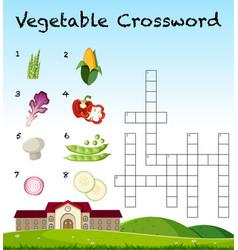A vegetable crossword template vector