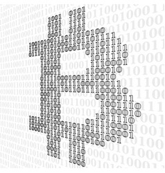 abstract sign bitcoin of binary code vector image