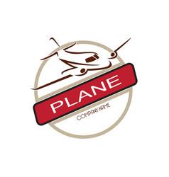 airplane travel logo vector image