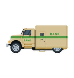 Armored cash truck banking currency and vector