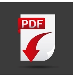 arrow download file icon vector image