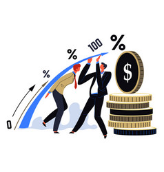 business capital and deposit economy and finance vector image