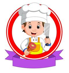 Butcher mascot cartoon vector