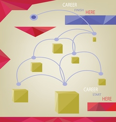 Career concept with dots squares and paths infogra vector