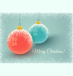 christmas balls and snow vector image