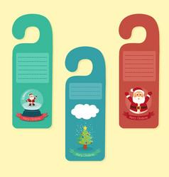 Christmas hanger greeting card vector