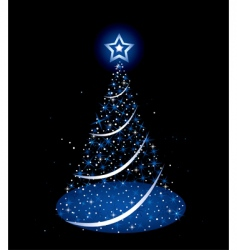 Christmas holiday tree vector image