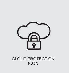 Cloud protection icon vector