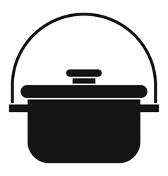 Cooking cauldron icon simple style vector