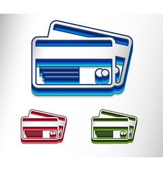 credit cards icon design set vector image