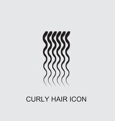 Curly hair icon vector