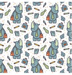 cute animals cartoon set vector image