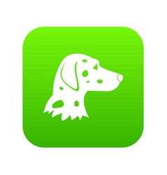 dalmatians dog icon digital green vector image