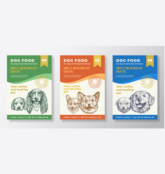 dog food label templates set abstract vector image