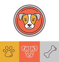 dog icons and logos vector image