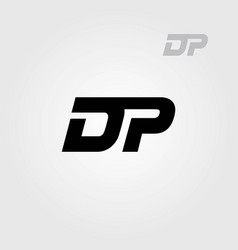 dp letters logo sporty style vector image