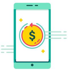 E-wallet fast money refunding flat vector