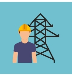 electrician isolated design vector image