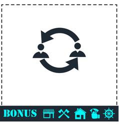 exchange between two men icon flat vector image