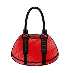 Femenine bag isolated icon vector