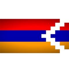 Flag of Nagorno Karabakh vector