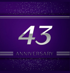 forty three years anniversary celebration design vector image