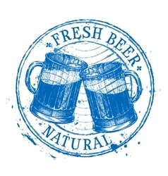 fresh beer logo design template Shabby vector image