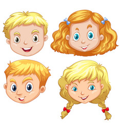 Girls and boys with blond hair vector