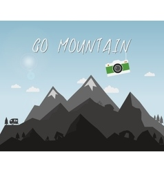 Go mountain concept design Outdoor travel vector