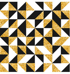 Gold glitter abstract retro art seamless pattern vector