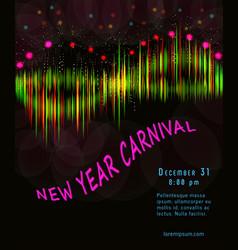golden carnival mask masquerade mardi gras vector image