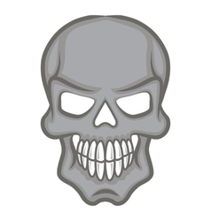 Halloween cartoon scull isolated on white vector image