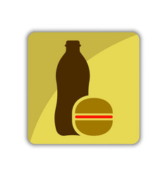 Icon to call the meal delivery menu vector