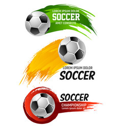 icons for soccer club football championship vector image