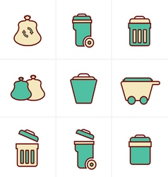 Icons Style Icons Style Garbage Icons vector