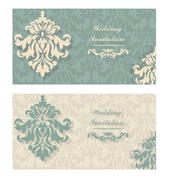 Invitation Cards set with ornaments vector