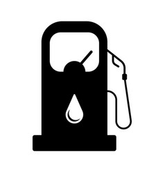 isolated oil gas station icon vector image