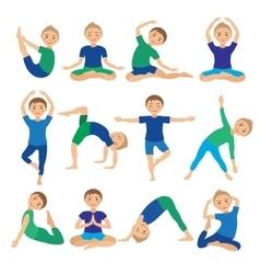 Kids Yoga Poses Child doing vector