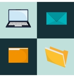 laptop and envelope icons image vector image