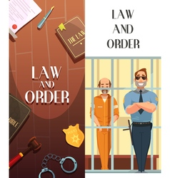 Law Order Justice 2 Cartoon Banners vector