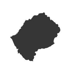Lesotho map silhouette vector