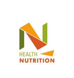 Logo for health nutrition company vector