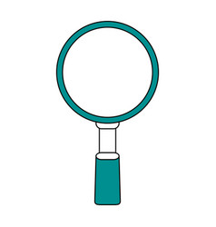 Magnifying glass flat vector