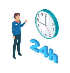 Manager person and clock set vector