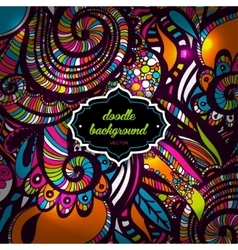 Multicolor Pattern Doodles- Decorative Sketchy vector image