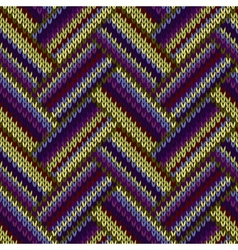 Multicolored Seamless Spring Knitted Pattern Green vector
