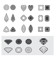 New diamonds set 01 vector