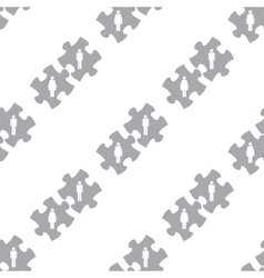 New Love puzzle seamless pattern vector image