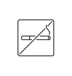 no smoking outline concept icon stop vector image